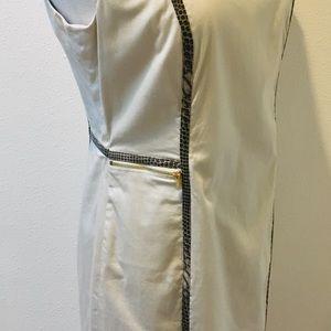 Calvin Klein Dresses - Calvin Klein Light Beige Sleeveless Zipper Front